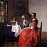 vermeer girl with wine glass