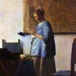vermeer woman in blue reading