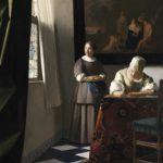 vermeer woman writing